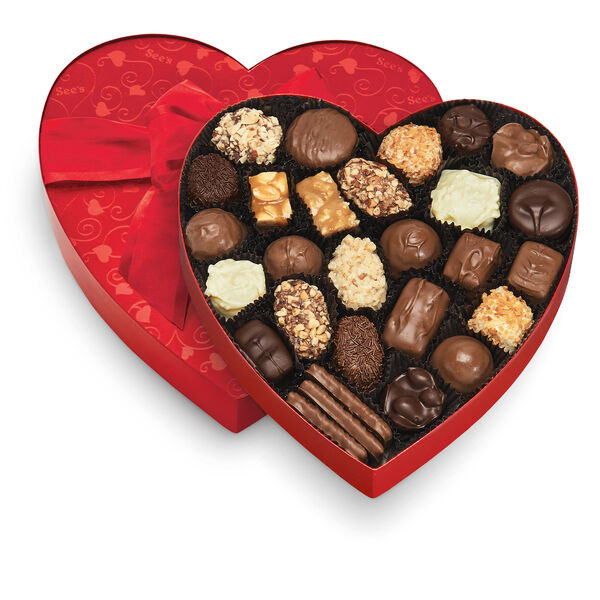 Classic Red Heart - Chocolate & Variety