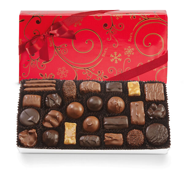 Assorted Chocolates with Red Bow