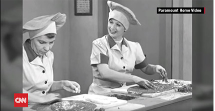 """I Love Lucy """"Job Switching"""" episode scene"""